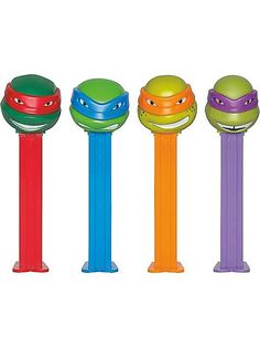NINJA TURTLES PEZ DISPENSER AND CANDY  $2 each