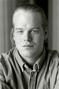 Early headshot, Philip Seymore Hoffman by Andrew Brucker.