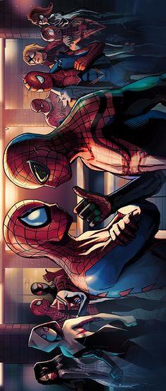 Superior Spider-Man vs Spider-Man by Anyan Corozon.