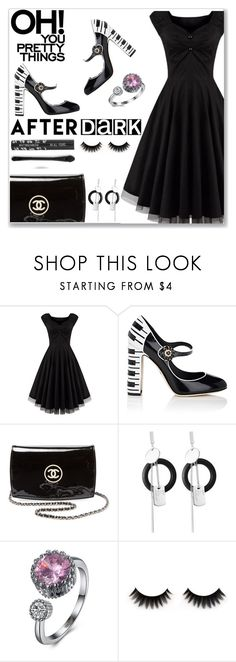 """""""After dark"""" by simona-altobelli ❤ liked on Polyvore featuring Dolce&Gabbana and Chanel"""