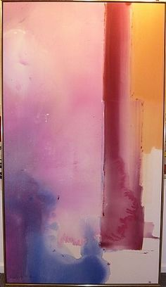 Helen Frankenthaler, Sérénade. #Colorful #abstract #art