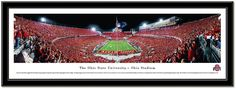 "Ohio State Buckeyes Football-Pictures-Quotes-Frames-Posters-All With OSU Logo-Ohio Stadium Pictures-The Horseshoe ""The Shoe"" Pictures And Photographs. NCAA College Stadium Framed Pictures.Scarlet And Gray OSU Photos. Ohio State Buckeyes Football Sports Panorama Photo.Sports Art. Script Ohio panoramic photo of Ohio Stadium during the ""Scarlet Out"" night game Ohio State vs Wisconsin, September 30, 2013. OSU football art comes framed and ready to hang in your Buckeye room!"