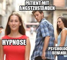 Patient mit Angstzuständen: Hypnose vs Psychologische Behandlung. Photo by reset 720° Hypnose in Switzerland. #Hypnose #Angst #reset720ch #Psychologie #Psychotherapie #Meme Satire, Angst, Humor, Memes, Mindset, Profile, Change, Photo And Video, Instagram