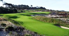 Spyglass Hill is generally considered to be the most difficult course on the Monterrey Penninsula despite the fact Phil Mickelson once shot 62 in the Pebble Beach Pro-Am or whatever it was called that year... http://www.golfslope.com