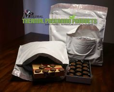 Gourmet chocolates deserve protected pampering when in transit. Truffles, caramels, and bonbons - all delivered deliciously intact to mail order customers. Yum. Yum. www.thermomailer.com