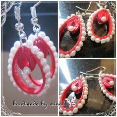 handmade paper earrings