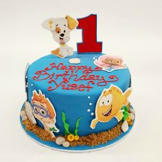 Our Yummy Bubble Guppies Cake!