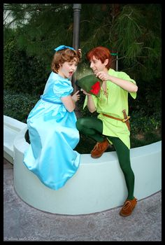 (Spieling) Peter and Wendy at Disneyland :)