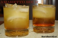 Amaretto Sour with Pineapple