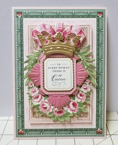 Anna Griffin Inc, Anna Griffin Cards, Card Making Designs, Family Crafts, Mothers Day Cards, Greeting Cards Handmade, Vintage Flowers, Cardmaking, Paper Art