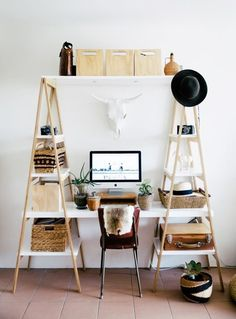 Modern DIY Desk Ideas for Home Workspaces | Apartment Therapy                                                                                                                                                                                 More
