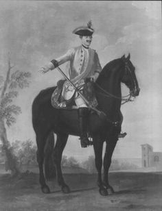 "David Morier (1705?-70) Private, Regiment of Horse 2B ""Hammerstein""  c. 1749  Oil on canvas 