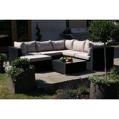 Maze Rattan London Corner Group Sofa Set