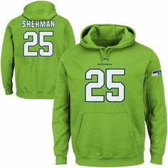 Richard Sherman Seattle Seahawks Eligible Receiver Hoodie - Neon Green