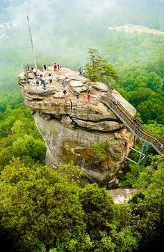 Chimney Rock, North Carolina.  Beautiful view of the Blue Ridge Mountains & Lake Lure below