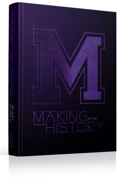 "Yearbook Cover - Monterey High School - ""Making History"" Theme - ""Making H15tory"" Architectural, Construction, Architect, Grid, Design"