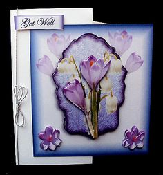 spring flowers on Craftsuprint designed by Terri Hawley - made by Diane Hitchcox - I printed onto 220 gram card and mounted onto a tri fold card ,i attached some decoupage onto main card and some onto right side tri fold. - Now available for download!