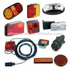 LED Boat Trailer Lights Plugs Connecters