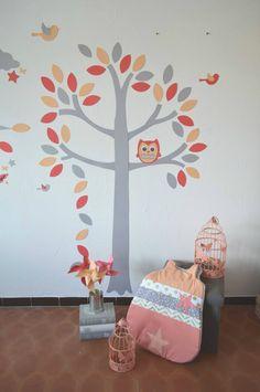 Décoration chambre enfant bébé corail abricot pêche doré / coral ...