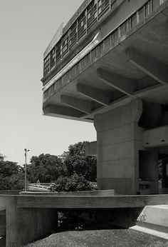 Biblioteca Nacional de Republica Argentina. Buenos Aires, 1960-1969. Architecture by Clorindo Testa