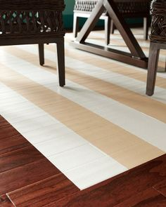 How to create an indoor painted rug.