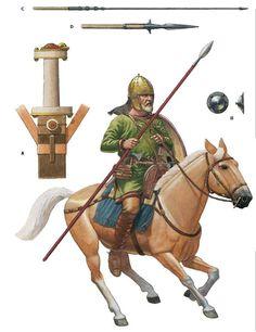 SPAIN / Medieval - Visigoths horseman