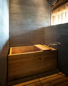 hinoki - concrete. concrete, timber and lighting, material is simple but still works so well