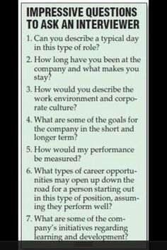 Impressive questions for your next interview. www.hallmarkpersonnel.com
