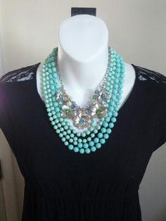 Seabreeze necklace framing Garden Gate necklace! Premier Designs Jewelry  mcavazos.mypremierdesigns.com