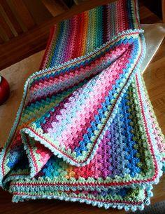 Granny Stripe Blanket by Sarah Youde, via Flickr