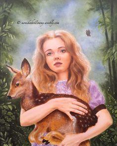 """Garden of Innocence"" oil on gesso board, 8""x10"" Copyright - Monika Holloway"