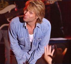 Jon Bon Jovi teasing his fans - and having fun doing it!
