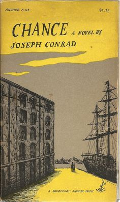 Chance by Joseph Conrad, cover illustration by Edward Gorey Best Book Covers, Vintage Book Covers, Beautiful Book Covers, Book Cover Art, Book Cover Design, Vintage Books, Book Design, Book Art, Antique Books