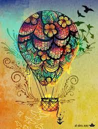 zentangle hot air balloon - Google Search                                                                                                                                                     Mais