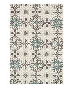 Take a look at this Ivory & Metal Francesca Rug by Loloi Rugs on #zulily today!
