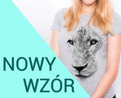 Szara koszulka damska T-shirt z nadrukiem LEW rozmiary S M L XL