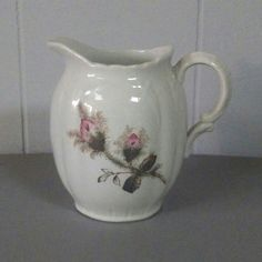 Beautiful English ironstone pitcher for sale in our online Etsy shop.