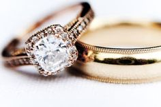 DREAM wedding ring rose gold  ( the band would best be thinner with more diamonds? would love a meaningful inscription like a bible verse or inside joke.. JS )