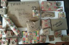 Countdown To 25th Birthday With Advent Inspired Calendar Gifts For Him Her