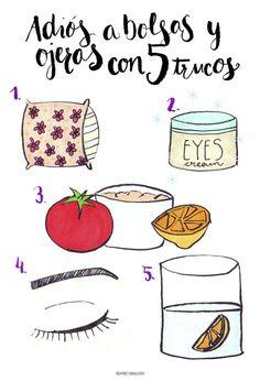5 trucos para eliminar bolsas y ojeras Face Care, Skin Care, Body Hacks, Mind Body Soul, Tips Belleza, Belleza Natural, Health And Beauty Tips, Natural Cosmetics, Beauty Hacks