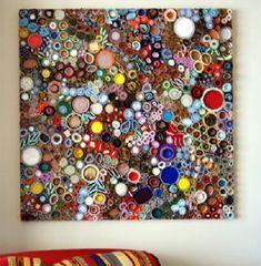 Cuadros artísticos con materiales reciclados, de Lee Gainer