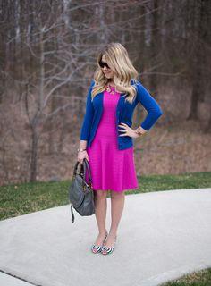 Pink Textured Dress + Linkup • The Mix