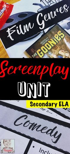 This Screenplay Unit is for Secondary English Language Arts, grades 8-12. Students will practice creative writing to target the common core! By Bespoke ELA
