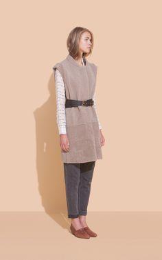 Rachel Comey Overlook Coat / Vest, loafers #minimalist #fashion #style