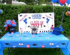 High School Graduation Party Ideas | ... Graduation Party Table Decoration with College Graduation Party Table