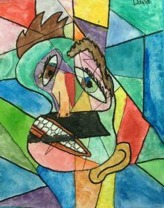 Picasso Portraits in watercolour