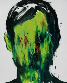 """Stranger (86),"" expressionist portrait by One-to-Watch artist Lim Cheol Hee (South Korea). Read his feature: http://magazine.saatchiart.com/articles/artnews/saatchi-art-news/one-to-watch/lim-cheol-hee"