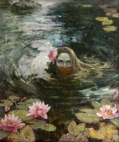 RUSALKA [noun] Slavic mythology: (plural: rusalki or rusalky) a female ghost, water nymph, succubus, or mermaid-like demon that dwelt in a waterway. According to most traditions, the rusalki were. Art Inspo, Kunst Inspo, Inspiration Art, Fantasy Kunst, Fantasy Art, Renaissance Kunst, Rusalka, Water Nymphs, Art Moderne