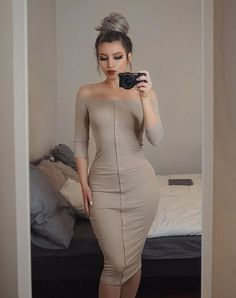53 Baddie Outfits Trending This Winter Classy Outfits, Sexy Outfits, Sexy Dresses, Cute Dresses, Casual Outfits, Fashion Dresses, Tight Dresses, Fashion Killa, Look Fashion