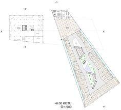 402 rezidans, ofis ve avm tasarımı avm +6.00 kotu planı